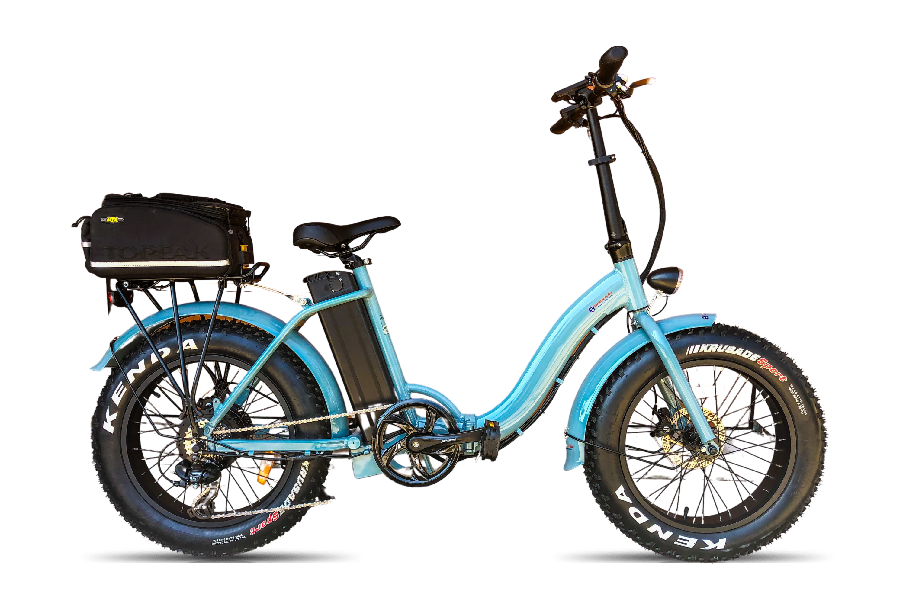 synaptic cycles fat-tire folding ebike