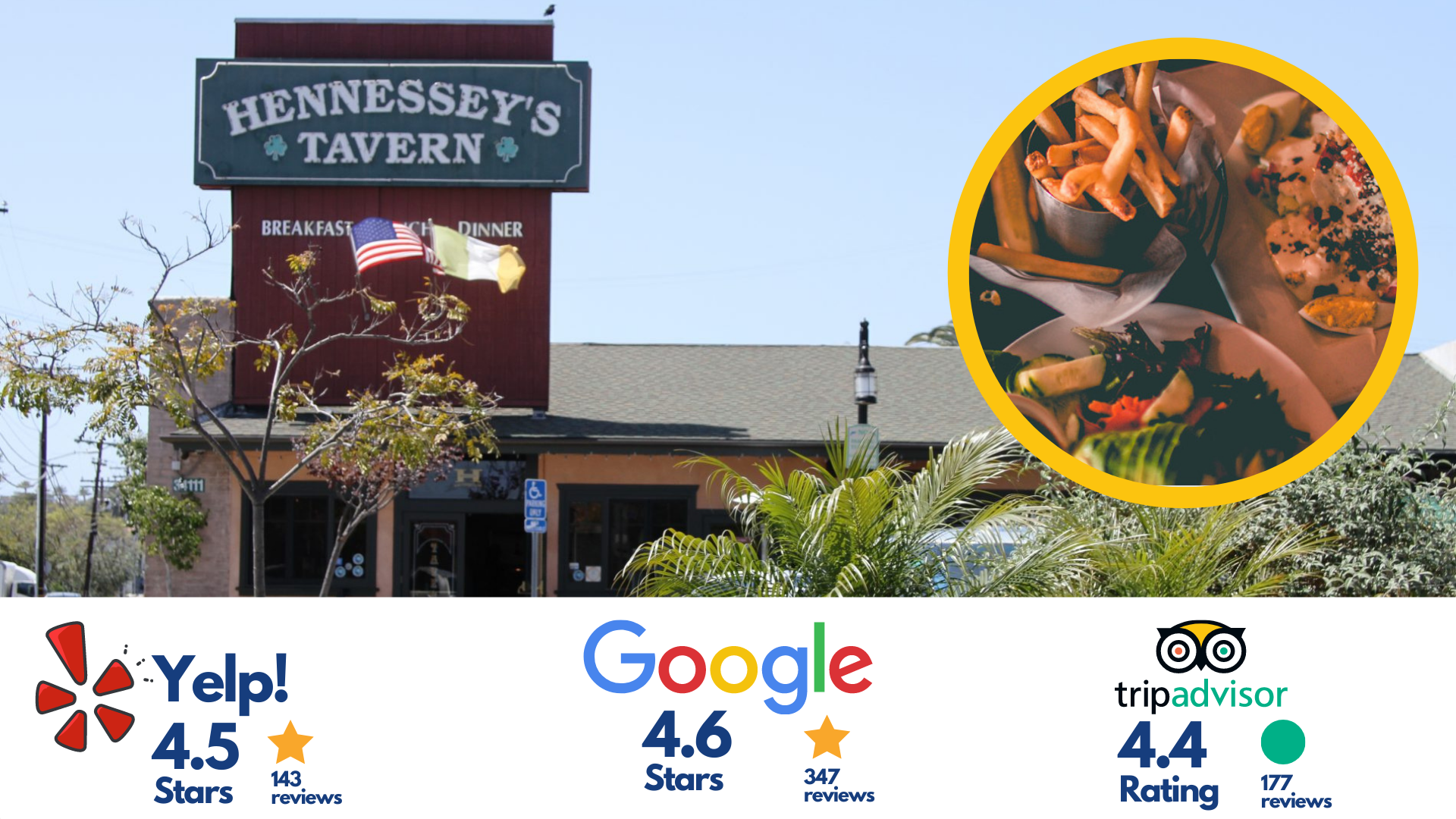 Hennessey's Tavern, Dana Point, California (Golden Lantern Plaza)