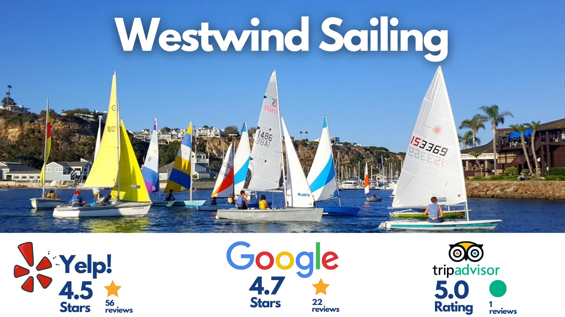 Multiple sail boats in Dana Point harbor