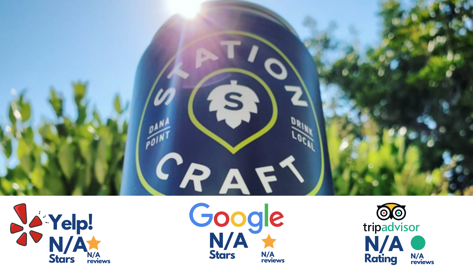 Station Craft, dana point, california, (picture of a beer can)